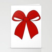 bow Stationery Cards featuring bow by  MuDi