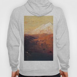 Mount Shasta 1882 By Thomas Hill   Reproduction Hoody