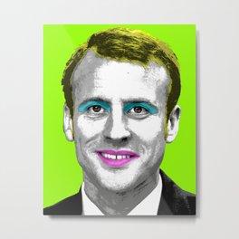 Marilyn Macron - Lime Metal Print