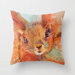 Squirrel Throw Pillow