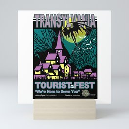Transylvania Travel Poster Mini Art Print