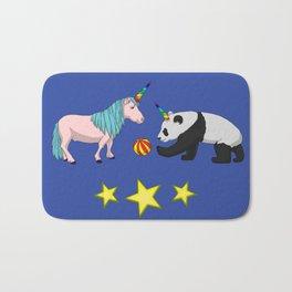 Pandicorn meets unicorn Bath Mat