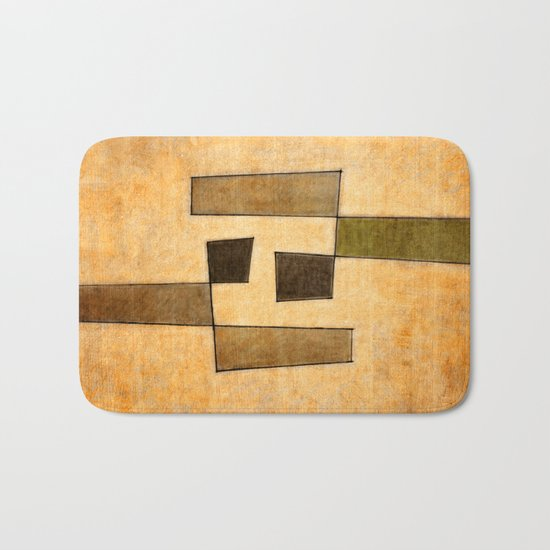 Protoglifo 03 'brown dance' Bath Mat