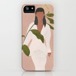 Elegant Lady holding a Flower iPhone Case