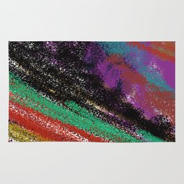 Design stylish  rainbow colors vint. Rug
