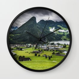 Schwyz Valley And Lauerzersee - Switzerland Wall Clock