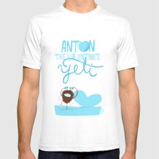 Anton, the Valentine´s Yeti Mens Fitted Tee SMALL White