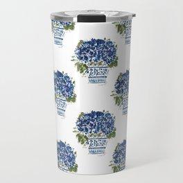Hydrangea Chinoiserie Jenna Travel Mug