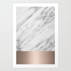 Carrara Italian Marble Holiday White Gold Edition Art Print