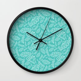 Garden on a blue and happy sunny summer morning Wall Clock