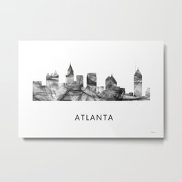 Atlanta, Georgia Skyline WB BW Metal Print