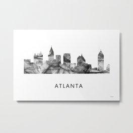 Atlanta, Georgia Skyline WB BW Metal Print