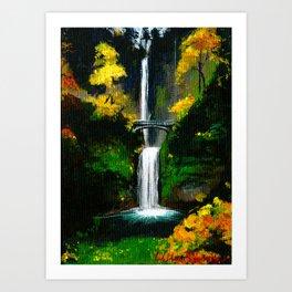 Changing of the Guards, Multnomah Falls - Oregon Art Print