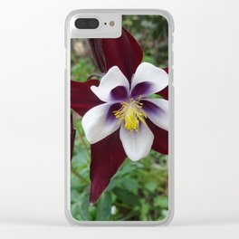 Mountain Flower Clear iPhone Case