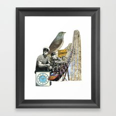 Navigate The Roller Coaster Ride Of Life Framed Art Print