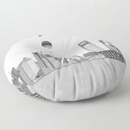 Shanghai (Black & White) Floor Pillow