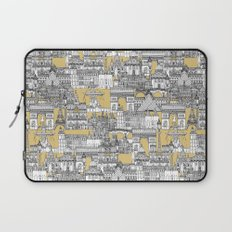 Paris toile gold Laptop Sleeve