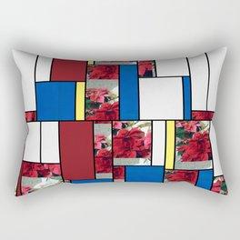 Mixed color Poinsettias 3 Art Rectangles 4 Rectangular Pillow