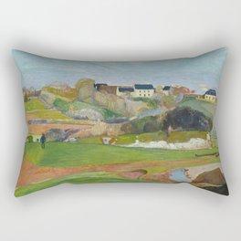 Paul Gauguin - Landscape at Le Pouldu Rectangular Pillow
