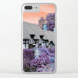 Psychedelic Cottage II Clear iPhone Case