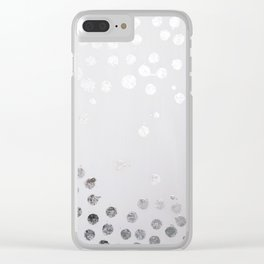 Silver and White Clear iPhone Case