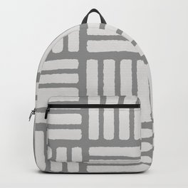Stamped White on Grey Backpack