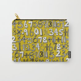 math doodle yellow Carry-All Pouch