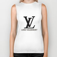 lv Biker Tanks featuring LV Lord Voldemort  by A Fuckin' Teenage Tragedy