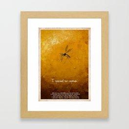 Jurassic Park - mosquito Framed Art Print