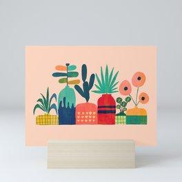 Plant mania Mini Art Print