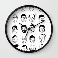 faces Wall Clocks featuring Faces by David Penela