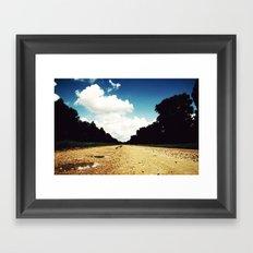 Open Road, Louisiana Framed Art Print