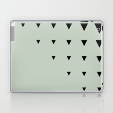 Black Triangles on Grey-Green Laptop & iPad Skin