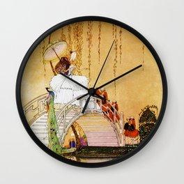 12,000pixel-500dpi - Kay Nielsen - Princess Crossing The Drum Bridge Wall Clock