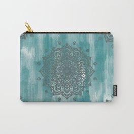 Abstract Teal Mandala Carry-All Pouch
