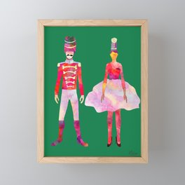Nutcracker Ballet - Candy Cane Green Framed Mini Art Print