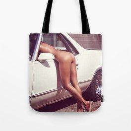 car funny pretty party bikini beautiful blonde fantasy summer holidays spring fresh birthday hipste Tote Bag