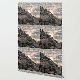 Rocks sky and sea Wallpaper