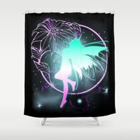 fairy Shower Curtains featuring Fairy by Augustinet
