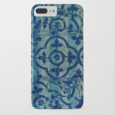 mosaic in cyan Slim Case iPhone 7 Plus