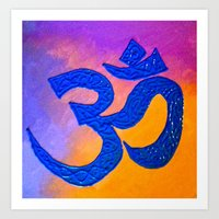ohm Art Prints featuring Ohm by KD Ives