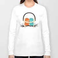 fall Long Sleeve T-shirts featuring Baby It's Cold Outside by Picomodi