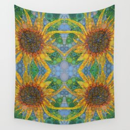 Percolated Sunflower Wall Tapestry