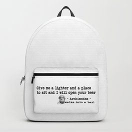 Archimedes Walks Into A Bar #1 Backpack