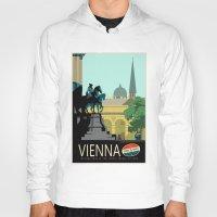 vienna Hoodies featuring Visit Vienna by Duke Dastardly