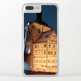 Bamberg Town Hall at night Clear iPhone Case