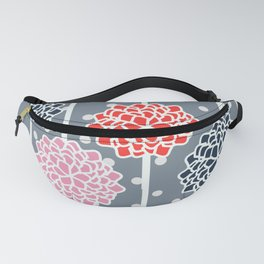 Blossom pattern with dots Fanny Pack