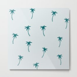 Palm Me Up - small blue palm trees  Metal Print