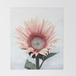 Pink Sunflower Throw Blanket