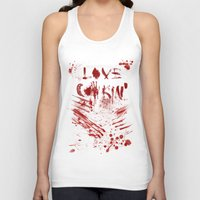 cooking Tank Tops featuring Love cooking by Poizon Poizon